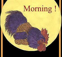 Good Morning Rooster by redqueenself