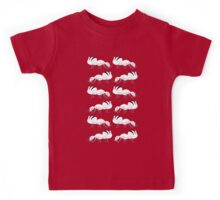 Cute Black and White Ant Pattern Kids Tee