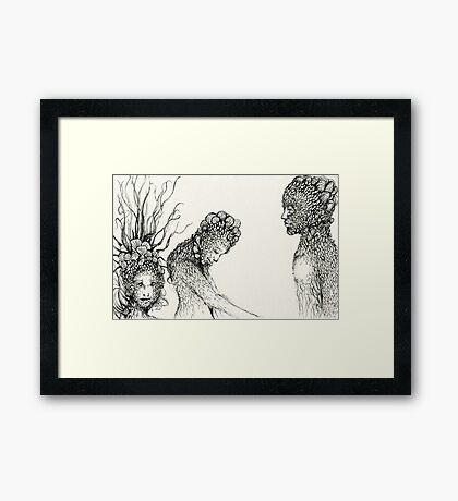 """People of Earth"" Framed Print"