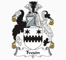 Coat of arms (family crest) for last-name or surname Twine or Twain . Heraldry banner for your name. T-Shirt
