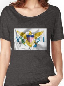 United States Virgin Islands Flag Women's Relaxed Fit T-Shirt