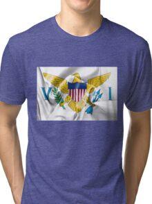 United States Virgin Islands Flag Tri-blend T-Shirt
