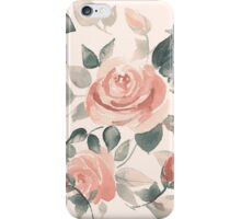 Background with beautiful roses iPhone Case/Skin