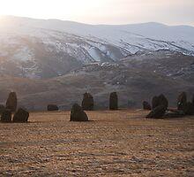 Castlerigg stone circle near keswick by angie coulston