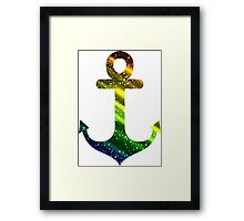 Colorful anchor Framed Print