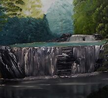 Waterfall on a Sunny Day by towncrier
