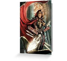 001 - CS [Female Battle Cleric] Greeting Card
