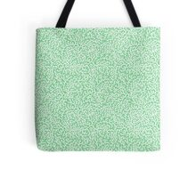 Coral on Spring Green Tote Bag