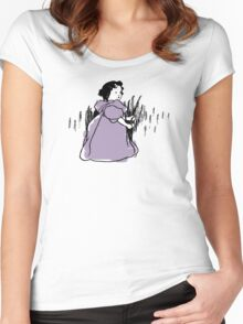 Wheat girl - Victorian illustration Women's Fitted Scoop T-Shirt