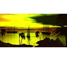 Anchorage on a Heartbreak Cove Sunset Photographic Print