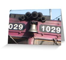 Close up of 1029 MBTA Commuter Rail's Bell and Horn Greeting Card