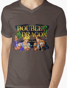DOUBLE DRAGON! Mens V-Neck T-Shirt