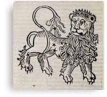 Hic Codex Auienii Continent Epigrama Astronomy Rufius Festivus Avenius 1488 Astronomy Illustrations 0144 Constellations Canvas Print
