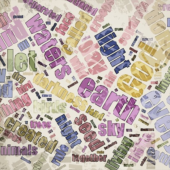 Genesis Chapter 1 Word Cloud by morningdance