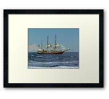 Under Short Sail Framed Print