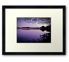 Lavender Light Over Lake Mentieth Framed Print