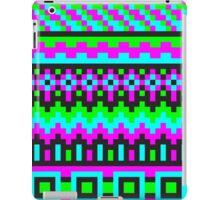 hyper neon pixel pattern iPad Case/Skin