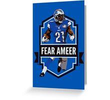 Fear Ameer - Ameer Abdullah - Detroit Lions Greeting Card