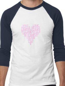 Daft Punk - Love Heart Men's Baseball ¾ T-Shirt