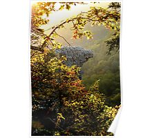 Sunrise , framing the Hawksbill Crag Poster