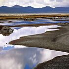 Mono Lake Reflections & Mountains by Chris Whitney