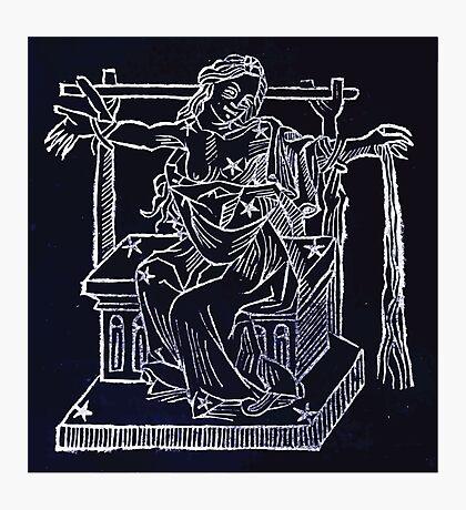 Hic Codex Auienii Continent Epigrama Astronomy Rufius Festivus Avenius 1488 Astronomy Illustrations 0151 Constellations Inverted Photographic Print
