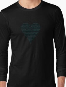 Binary - Love Heart Long Sleeve T-Shirt