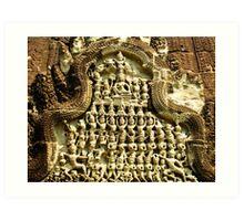 Angkor Bas Relief Art Print