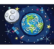 Earth Planet Photographic Print