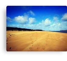Foot prints in the Sand Canvas Print