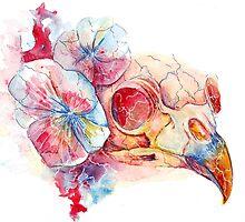 crow skull by La-Vika