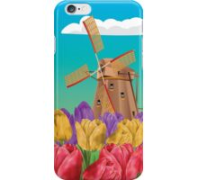 Windmill and Tulips iPhone Case/Skin