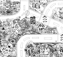 Doodle Map D by WyldTrees