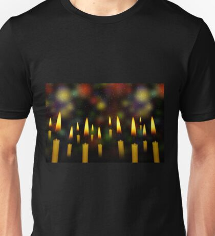 Yellow Candles Unisex T-Shirt
