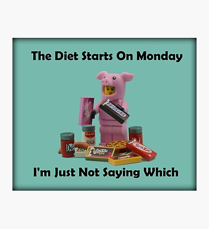 The Diet Starts On Monday Photographic Print
