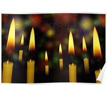 Yellow Candles 2 Poster