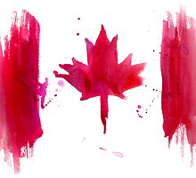Watercolor flag of Canada by Anastasiia Kucherenko
