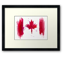 Watercolor flag of Canada Framed Print