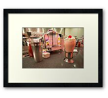 Strawberry Malt Shake  Framed Print