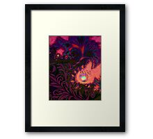 Haitian Summer Sunset sultry tropical dreamscape Framed Print