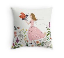 My pet the ladybug Throw Pillow