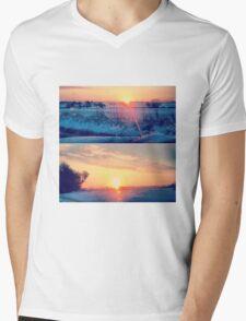 Glistening Sunrise Mens V-Neck T-Shirt