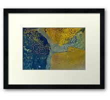 Water drops on stone  Framed Print