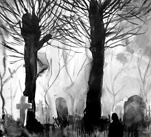 grave yard by Loui  Jover