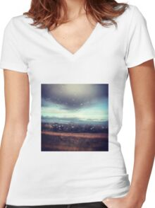 England at its Best.  Women's Fitted V-Neck T-Shirt