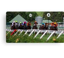 A day at the races - they're racing Canvas Print