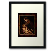 'round yon virgin zombie and child Framed Print