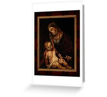'round yon virgin zombie and child Greeting Card