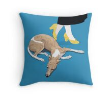 Sunday and the Yellow Shoes Throw Pillow