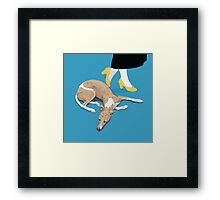 Sunday and the Yellow Shoes Framed Print